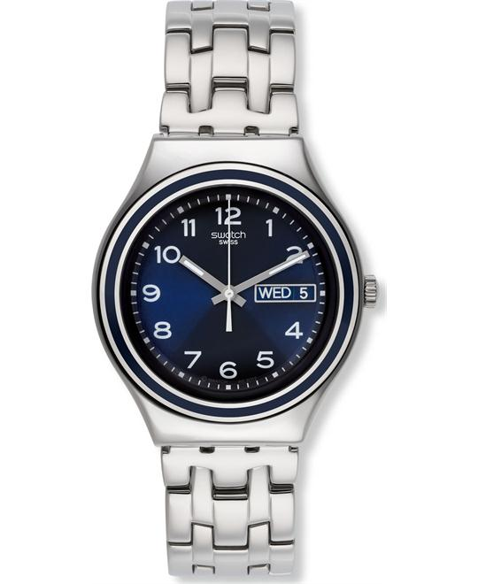 Swatch Women's Blue Influence Silver Watch 38mm