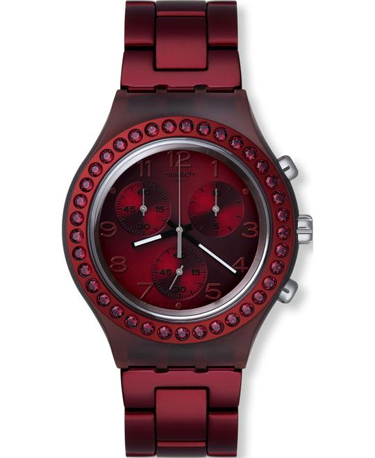 Swatch Women's Irony Red -Swiss Quartz Watch, 42mm