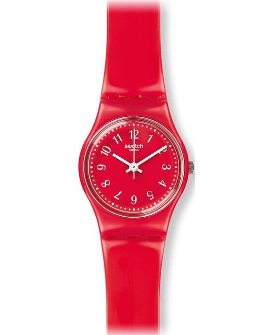 Swatch Women's Originals Red Plastic Swiss Watch, 25mm