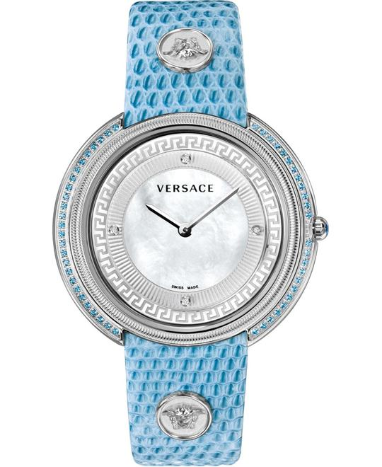 Versace Thea Diamond MOP Blue Watch 39mm