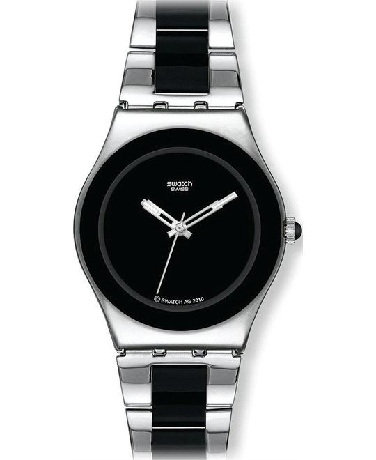Women's Irony Black Dial Two Tone Stainless Steel