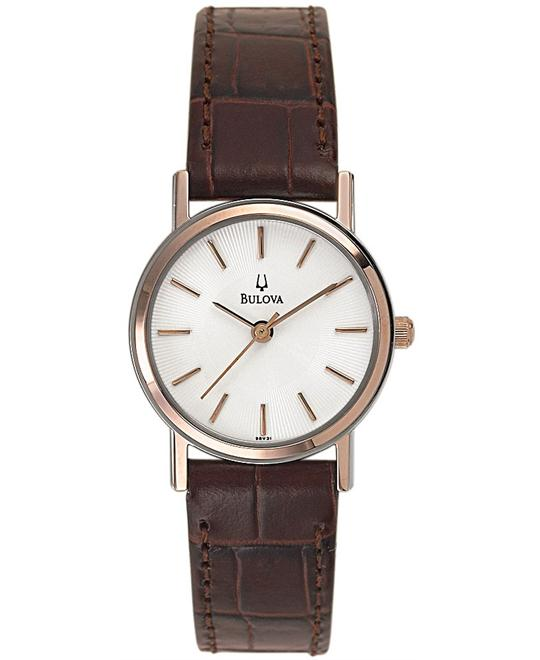 Bulova Women's Brown Watch 25mm