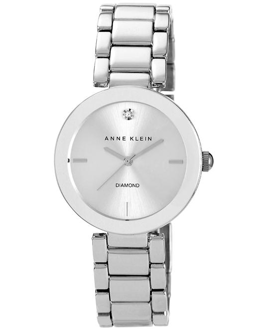 Anne Klein Watch, Women's Diamond Bracelet 32mm