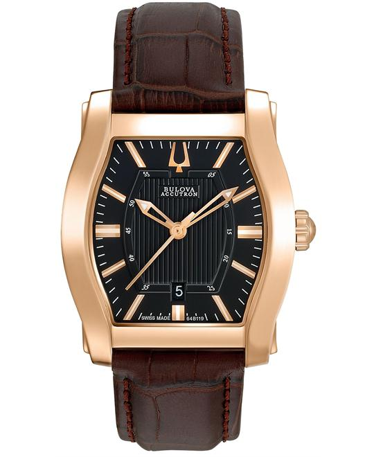Bulova Men's Swiss Stratford Brown, 31x29mm