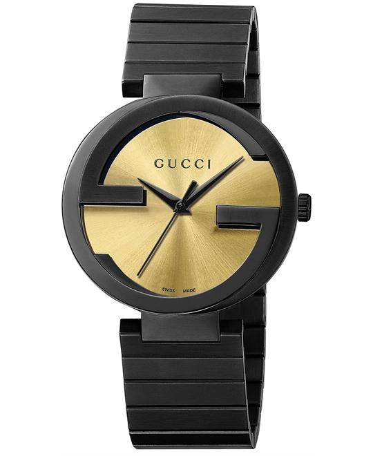 Gucci Interlocking  Men's Swiss  Black watch 42mm