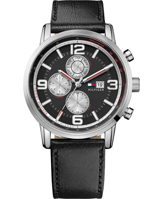 Tommy Hilfiger Men's Leather Strap 44mm