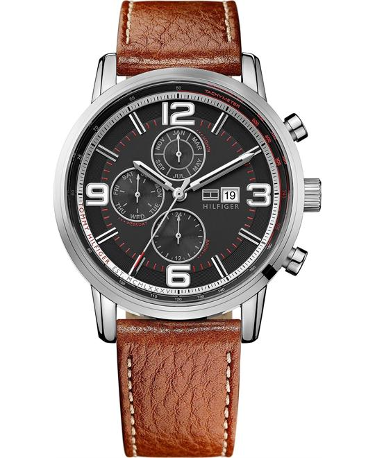 Tommy Hilfiger Men's Brown Leather 44mm