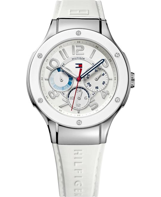Tommy Hilfiger Women's White Silicone  39mm