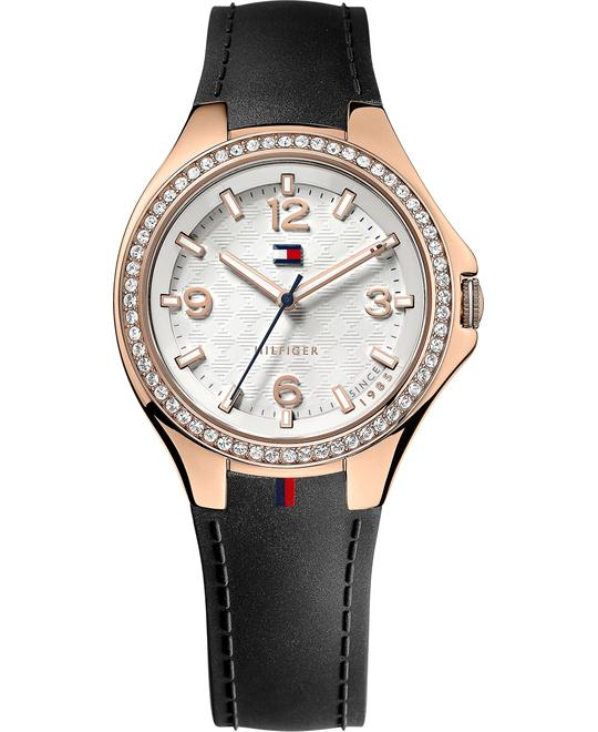 Tommy Hilfiger Women's Black Silicone Watch 38mm