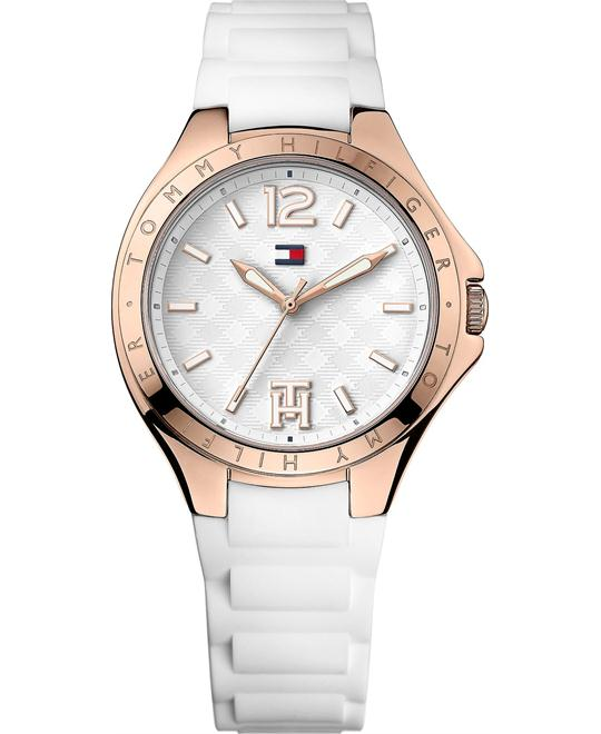 Tommy Hilfiger Women's White Silicone Strap Watch 38mm