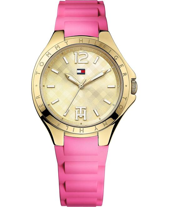 Tommy Hilfiger Women's Pink Silicone 38mm