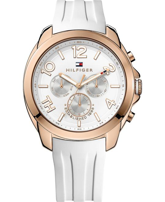 Tommy Hilfiger Women's White Silicone 42mm