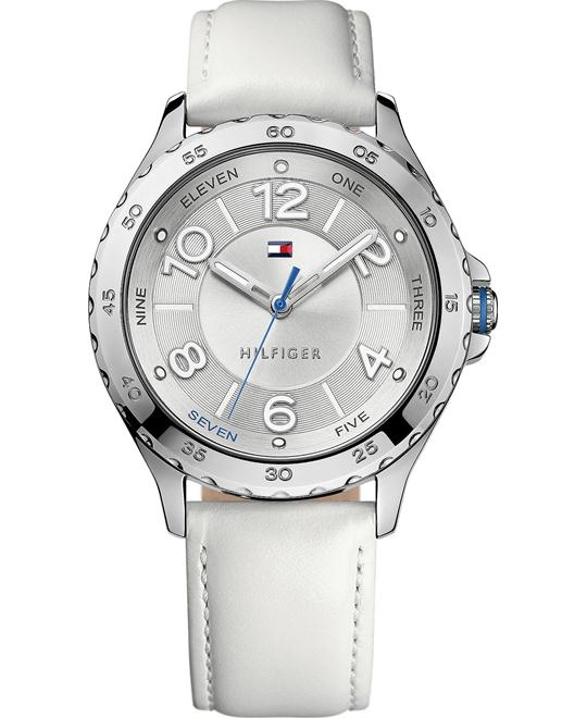 Tommy Hilfiger Women's White Leather 40mm