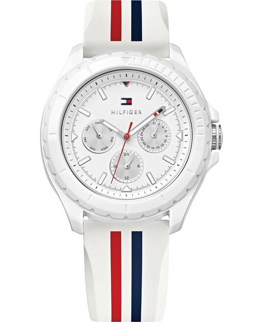 Tommy Hilfiger Women's White Rubber 40mm