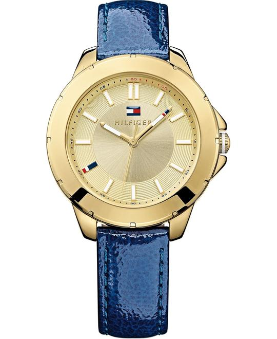 Tommy Hilfiger Women's Blue Leather 38mm
