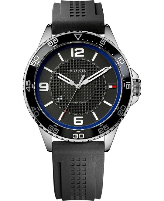Tommy Hilfiger Men's Black Silicone 44mm