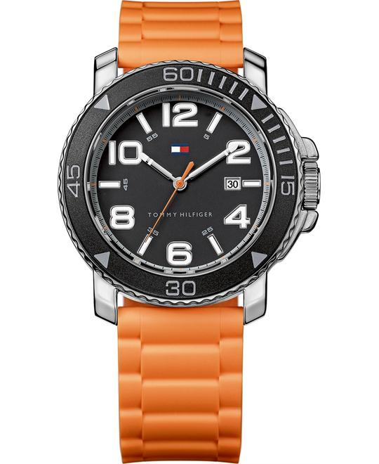 Tommy Hilfiger Men's Orange Silicone Strap 42mm