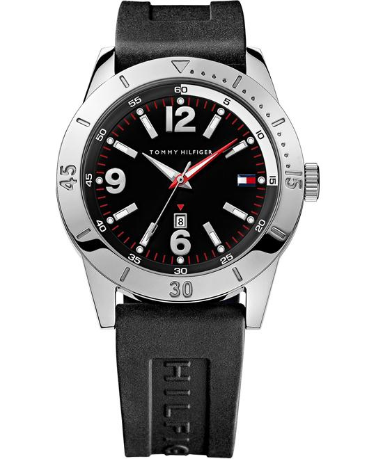 Tommy Hilfiger Men's Black Silicone 42mm