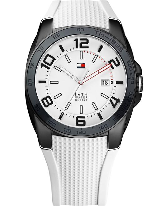 Tommy Hilfiger Men's White Silicone 44mm