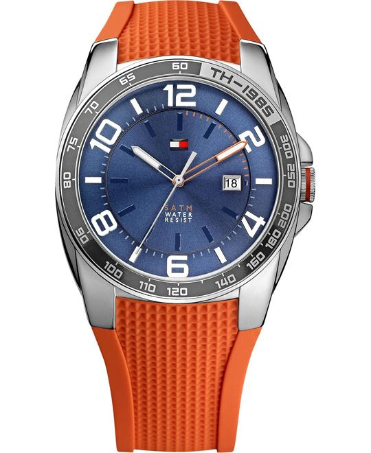 Tommy Hilfiger Men's Orange Silicone 44mm