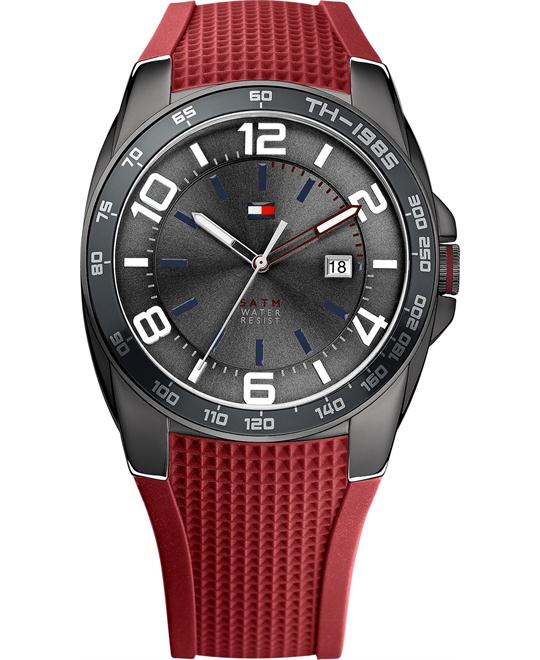 Tommy Hilfiger Men's Red Silicone 44mm