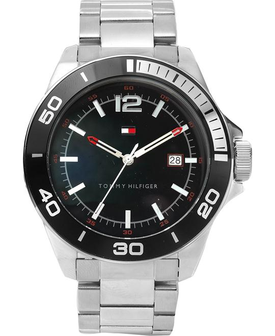 Tommy Hilfiger Men's Silver Watch 45mm