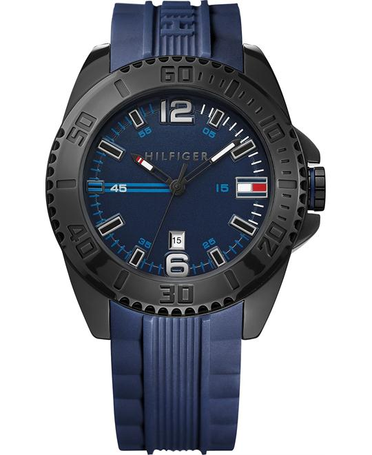 Tommy Hilfiger Men's Blue Silicone  Watch 46mm