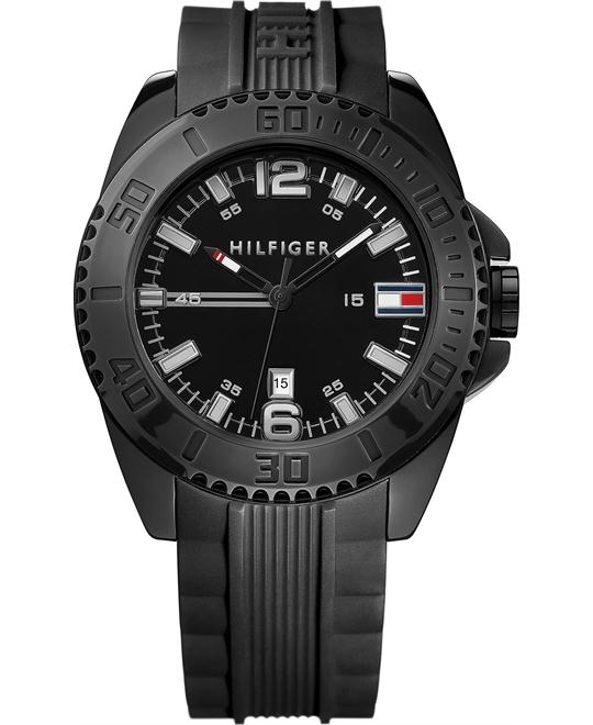 Tommy Hilfiger Men's Black Silicone 46mm