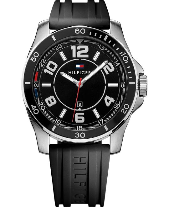 Tommy Hilfiger Men's Black Silicone Watch 46mm