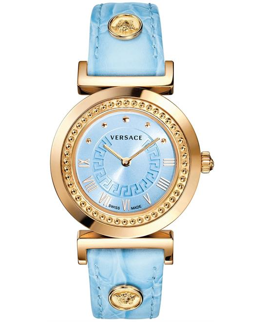 Versace Vanity  Women's Swiss Blue Watch 35mm