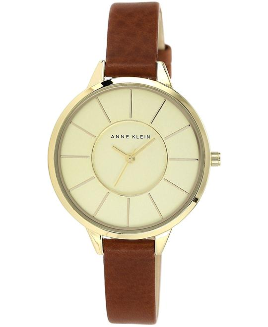 Anne Klein Women's Brown Leather Strap, 38mm