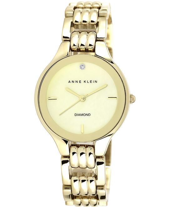 Anne Klein Diamond Gold Bracelet Watch 34mm