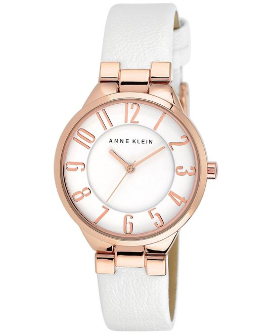 Anne Klein Women's Leather Strap Watch 34mm