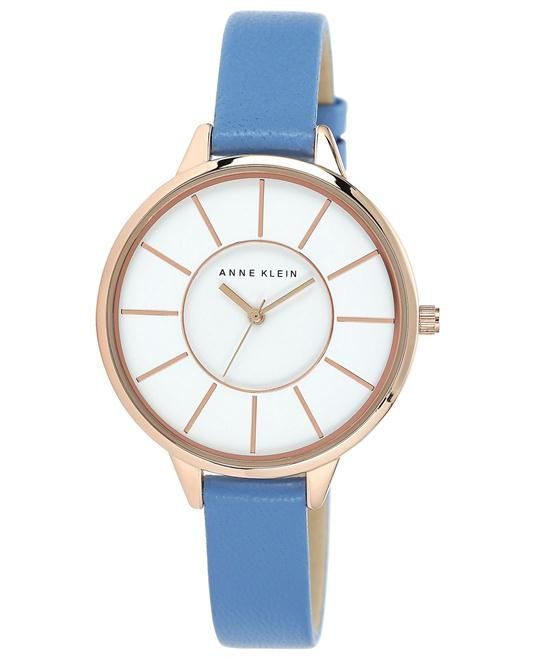Anne Klein Blue Leather Strap Watch 38mm