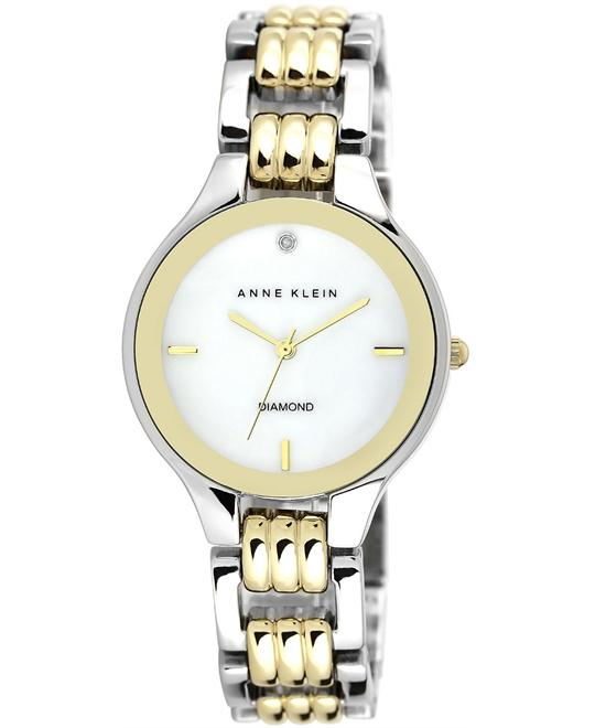 Anne Klein Diamond Two-Tone Bracelet Watch 34mm