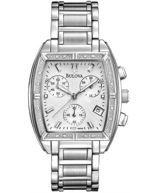 Bulova Women's Diamond Bezel Watch 31 X 38 MM