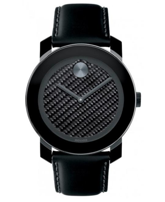 Movado Bold Swiss Black Unisex Watch 42mm