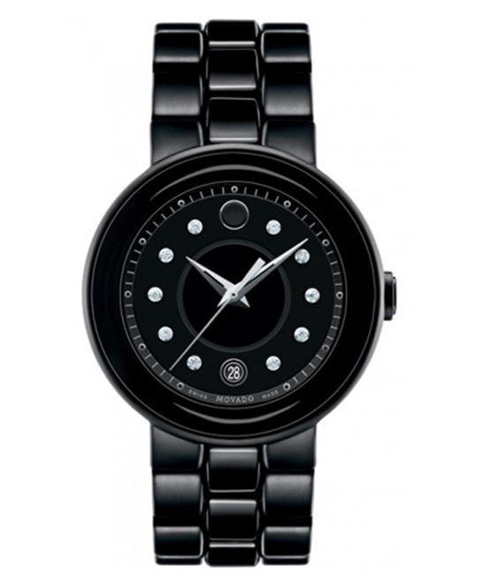 Movado Cerena Diamond Ceramic and PVD Watch 36mm
