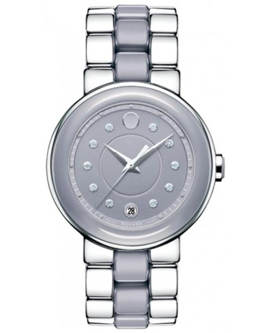 Movado Cerena Ceramic Lilac Ladies Watch 36mm