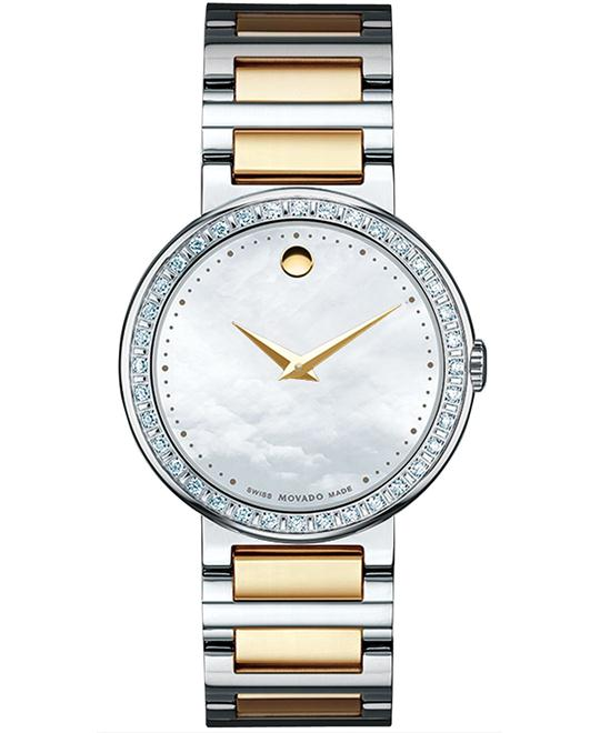 Movado Concerto MOP Museum Ladies Watch 30mm