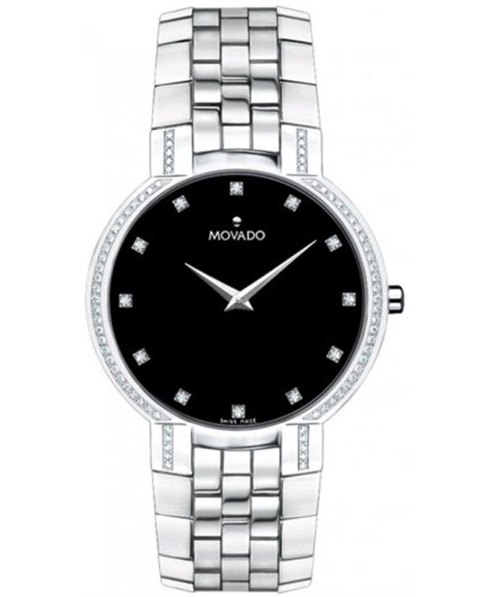 MOVADO Faceto Swiss Diamond (3/8 ct. t.w.) 38mm