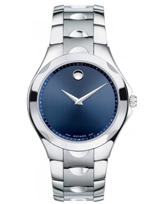 Movado Luno Stainless Steel Blue Mens Watch 40mm