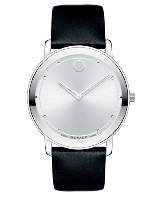 Movado Men's Swiss Movado TC Black Calfskin Watch 40mm