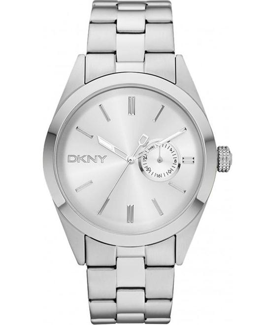 DKNY Donna Karan Men Watch Silver 46mm