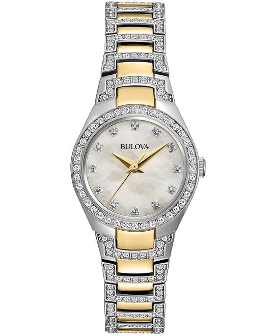 Bulova Women's Crystal Watch 25mm