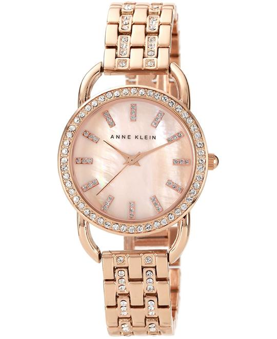 Anne Klein Watch, Women's Rose Gold Bracelet 31mm