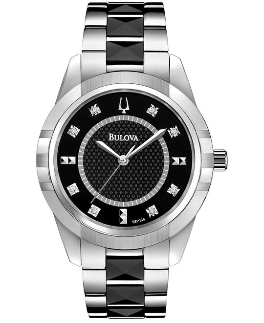 Bulova Women's Diamond Ceramic Watch 36mm