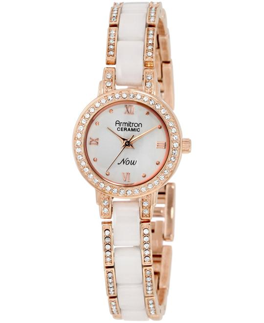 Armitron Women's White Bracelet Watch 24.34mm