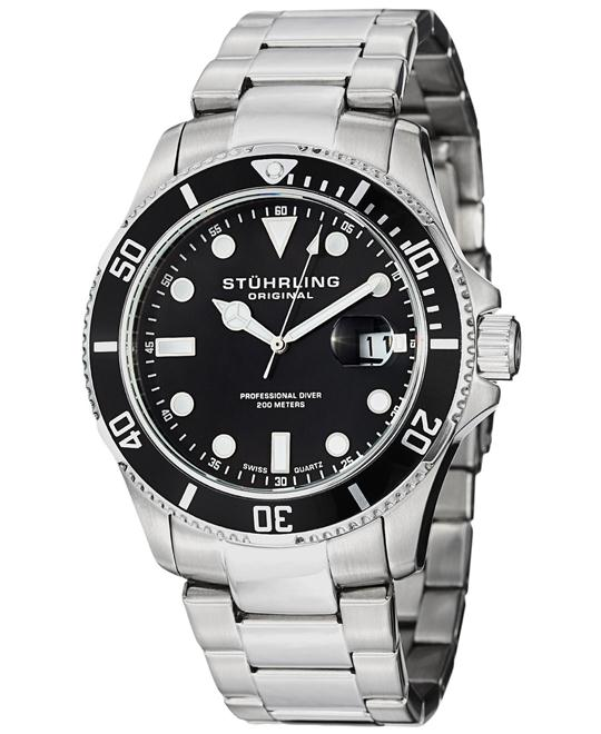 Stuhrling Original 417.02 Men's Aquadiver Swiss, 44mm