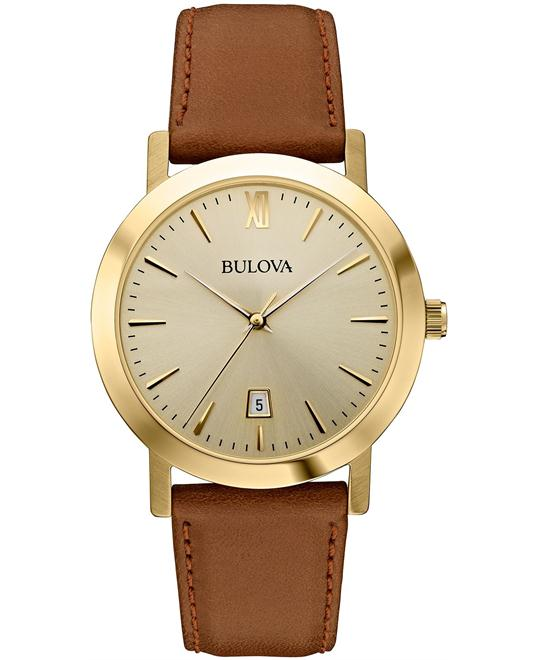 Bulova Unisex Brown Watch 38mm